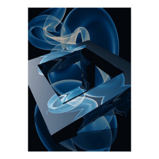 Crazy Cool Vape Cloud Abstract Posters Poster