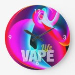 Crazy Cool Vape Cloud Large Clock at Zazzle