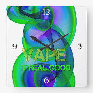 Crazy Cool Vape Square Wall Clock