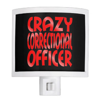 Crazy Correctional Officer in Red Night Light
