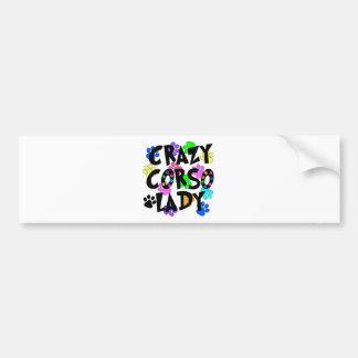 Crazy Corso Lady Bumper Sticker