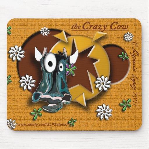 Crazy Cow Mouse Mats