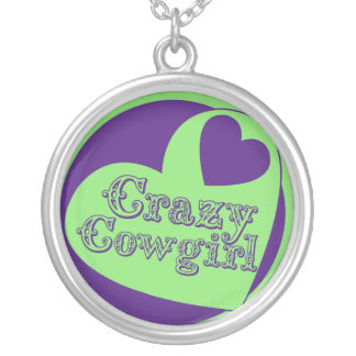 Crazy Cowgirl Round Pendant Necklace