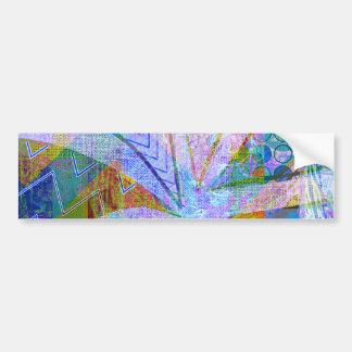 Crazy Craft Lady Blue Purple Butterfly Chevron Col Bumper Sticker