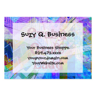 Crazy Craft Lady Blue Purple Butterfly Chevron Col Business Cards