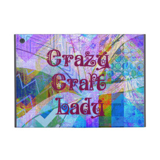 Crazy Craft Lady Blue Purple Butterfly Chevron Col Cases For iPad Mini
