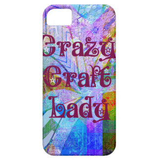 Crazy Craft Lady Blue Purple Butterfly Chevron Col iPhone SE/5/5s Case