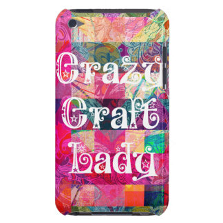 Crazy Craft Lady Colorful Pattern Vibrant Crafting Barely There iPod Cases