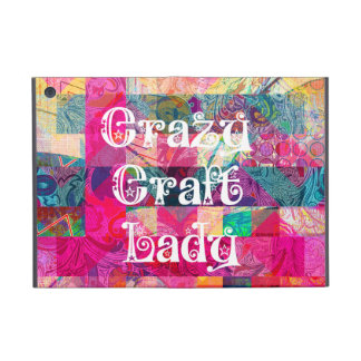 Crazy Craft Lady Colorful Pattern Vibrant Crafting iPad Mini Cover