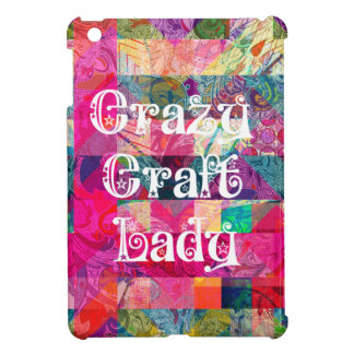 Crazy Craft Lady Colorful Pattern Vibrant Crafting iPad Mini Cases