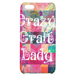 Crazy Craft Lady Colorful Pattern Vibrant Crafting iPhone 5C Case