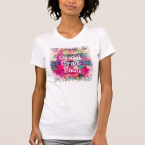 Crazy Craft Lady Colorful Pattern Vibrant Crafting T-Shirt