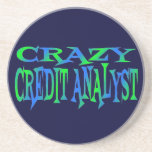 Crazy Credit Analyst Coasters