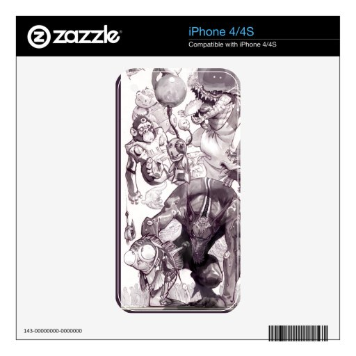 Crazy Critter iPhone 4/4S skin iPhone 4S Skins