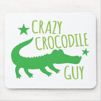 crazy crocodile guy mouse pad