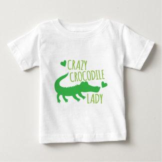 Crazy Crocodile Lady Baby T-Shirt