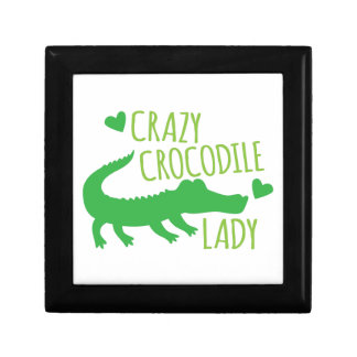 Crazy Crocodile Lady Jewelry Box