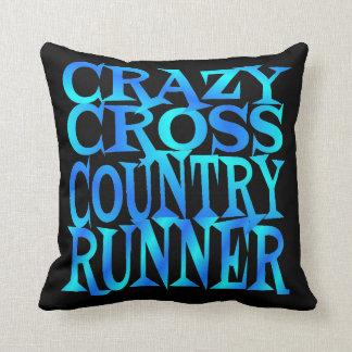 Crazy Cross Country Runner Throw Pillow