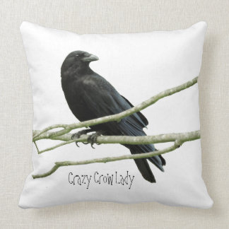 Crazy Crow Lady Accent Pillow