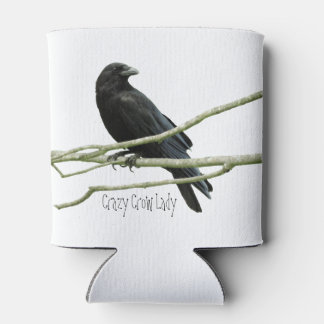 Crazy Crow Lady Can Cooler