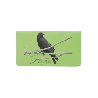 Crazy Crow Lady Checkbook Cover