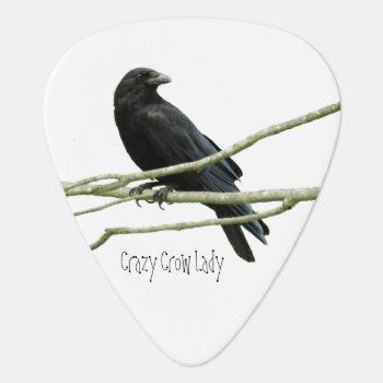 Crazy Crow Lady Guitar Pick by Crows_Eye at Zazzle
