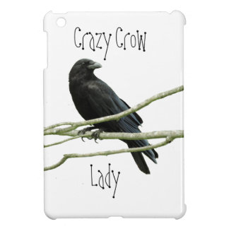 Crazy Crow Lady iPad Case