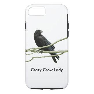 Crazy Crow Lady iPhone 7 Case