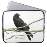 Crazy Crow Lady Laptop Sleeve