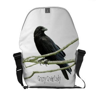 Crazy Crow Lady Messenger Bag