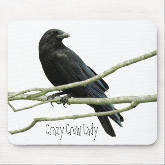 Crazy Crow Lady Mousepad