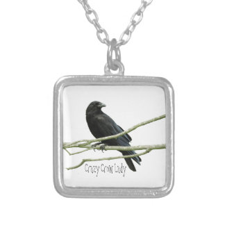 Crazy Crow Lady Necklace