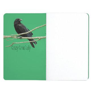 Crazy Crow Lady Pocket Journal