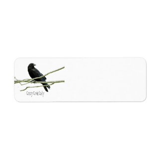 Crazy Crow Lady Return Address Labels