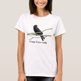 Crazy Crow Lady T-shirt