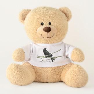 Crazy Crow Lady Teddy Bear
