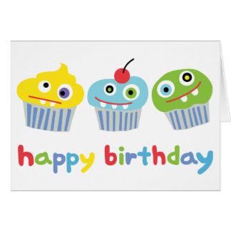 Crazy Cupcakes Birthday Card