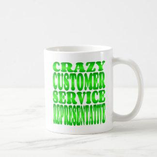Crazy Customer Service Representative in Green Coffee Mug
