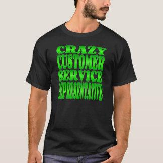 Crazy Customer Service Representative in Green T-Shirt