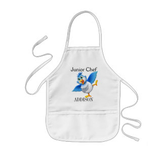 Crazy Cute Bird Junior Chef Kids' Apron