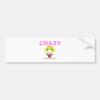 Crazy-Cute Monkey-Morocko Bumper Sticker