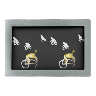 Crazy Cyclists in the Dark! Belt Buckle