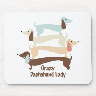 Crazy Dachshund Lady Mousepad