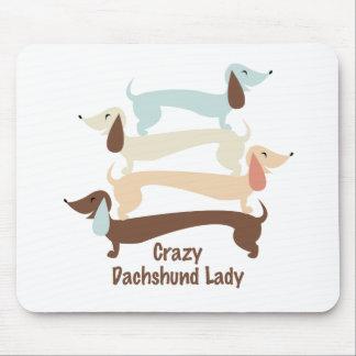 Crazy Dachshund Lady Mousepad