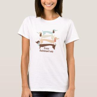 Crazy Dachshund Lady Shirt