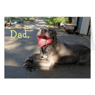 Crazy Dad Pitbull Father's Day Card
