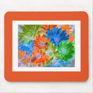 """Crazy Daisies"" - (white border print) Mouse Pad"