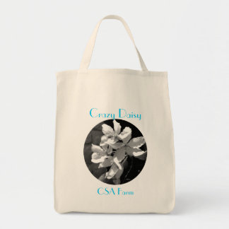Crazy Daisy Grocery Tote Bag