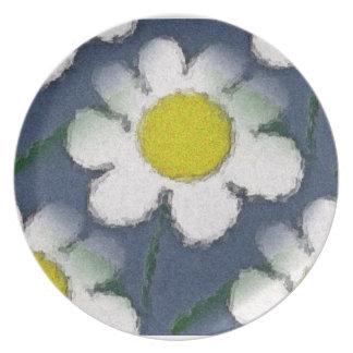 Crazy Daisy Love Melamine Plate