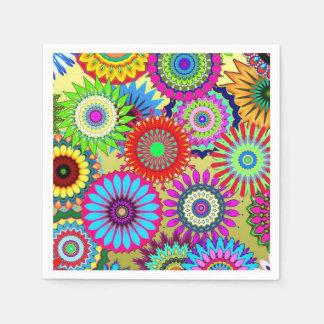 Crazy Daisy Pattern Design Paper Napkin